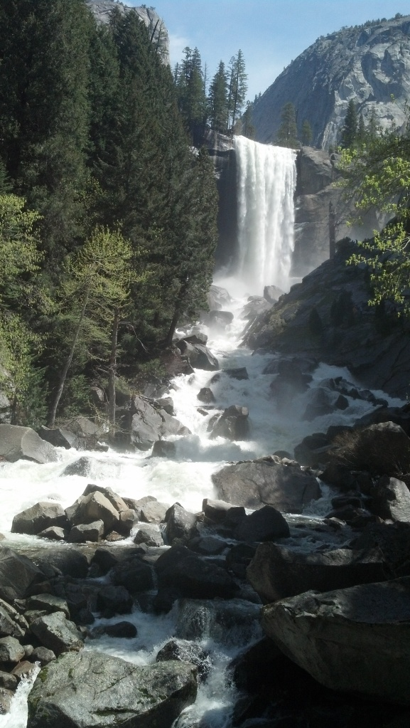 Nevada Fall in Yosemite. Crazy beautiful.